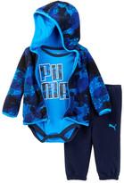 Puma Bodysuit, Microfleece Hoodie, & Pant Set (Baby Boys)