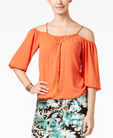 Thalia Sodi Cold-Shoulder Blouse, Only at Macy's