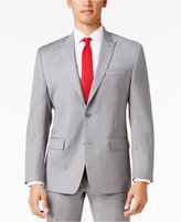 MICHAEL Michael Kors Men's Big and Tall Classic-Fit Light Gray Sharkskin Peak Lapel Suit