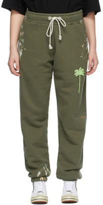 Palm Angels Khaki Painted Palm Tree Lounge Pants