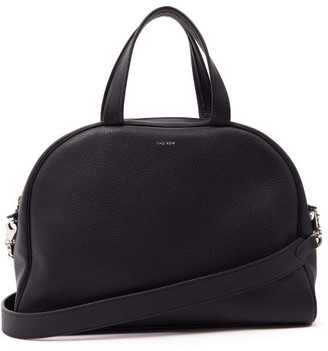 The Row Grained-leather Bowling Bag - Black