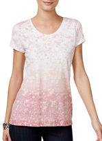 Style And Co. Petite Floral-Print Top