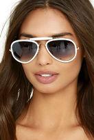 LuLu*s Bring on the Sun White Sunglasses