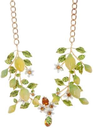 Dolce & Gabbana Lemon Branch Statement Collar Necklace