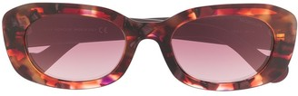 Moncler Eyewear Abstract Print Sunglasses
