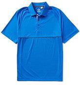 Cutter & Buck Golf Junction Stripe Hybrid Short-Sleeve Polo Shirt