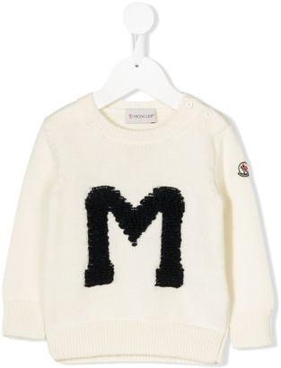 Moncler logo chunky knit jumper