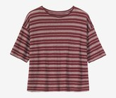 Toast Stripe Linen Swing Tee