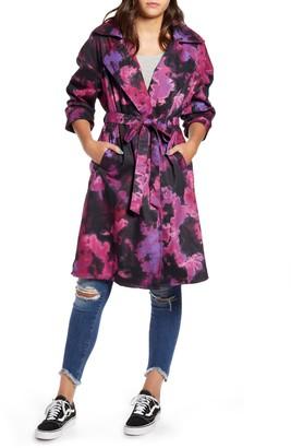 Tinsel Tie Dye Trench Coat