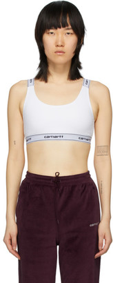 Carhartt Work In Progress White Script Bra