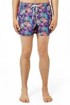 Topman Palm Print Swim Trunks