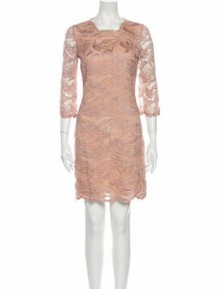 Emilio Pucci Lace Pattern Mini Dress Pink