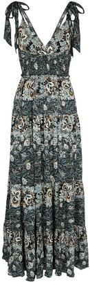 Free People Lets Smock About It floral-print maxi dress