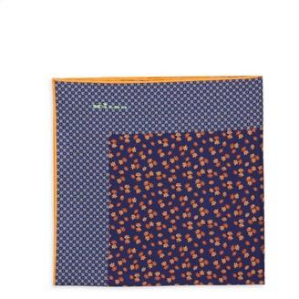Kiton Ditsy Floral Silk Pocket Square