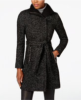 T Tahari Wool-Blend Belted Walker Coat