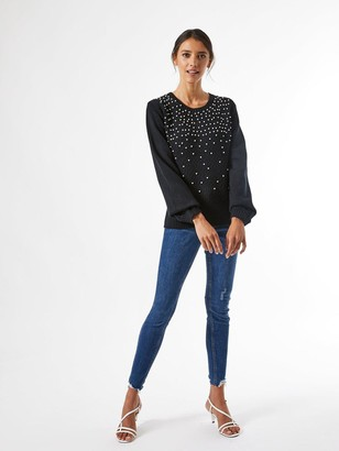 Dorothy Perkins All Over Pearl Jumper -Black