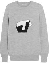 Loewe Intarsia Wool Sweater - Gray