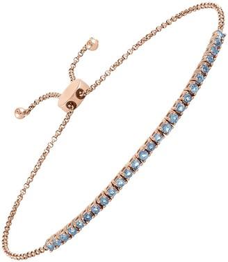 My Story Blue Topaz Pixie Rose Gold Bracelet