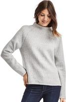 Gap Softspun fleece mockneck sweater