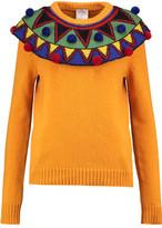 Stella Jean Pompom-Trimmed Wool-Blend Sweater