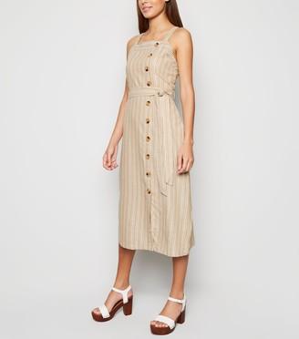 New Look Blue Vanilla Stripe Midi Dress