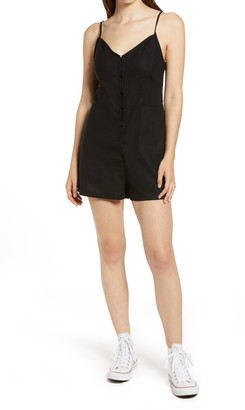 BP Sleeveless Button Front Romper