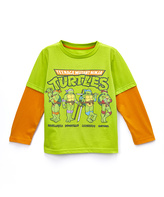 Freeze Lime Green TMNT Layered Tee - Toddler & Boys