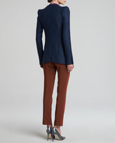 Narciso Rodriguez Collarless Jacket, Navy