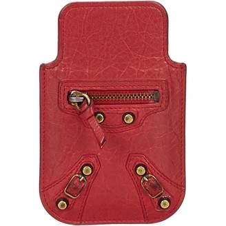 Balenciaga Burgundy Leather Purses, wallets & cases