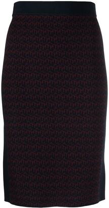 Tommy Hilfiger Logo-Print Knitted Skirt