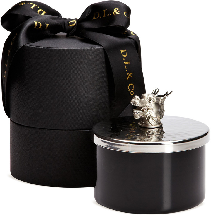 D.L. & Co. Dragon with Hammered Lid Artisan Candle (11 OZ)