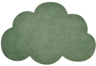 Green Cotton Lilipinso - Dark Cloud Carpet - cotton | Dark Green