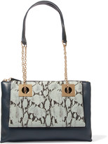 See by Chloe Snak-effect textured-leather shoulder bag