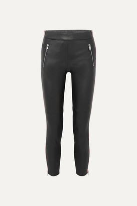 Alexander McQueen Two-tone Leather Skinny Pants - Black