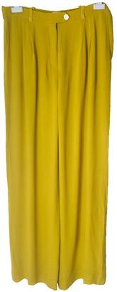 Hermes Green Silk Trousers