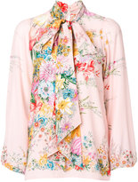 No.21 floral bow tie blouse - women - Silk - 40