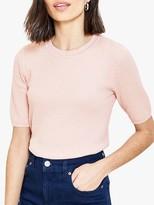 Oasis Textured Knit Jumper, Pale Pink