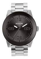 Nixon Mens Corporal SS Japanese quartz Stainless Steel watches Silver / Gunmetal A346