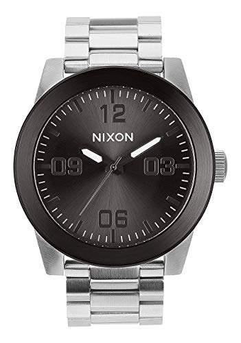 Nixon Corporal SS A353 - Silver/Gunmetal - 107M Water Resistant Men's Analog Field Watch (48mm Watch Face