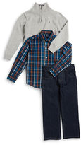 Nautica Boys 2-7 Sportshirt, Half-Zip Sweater and Jeans Set