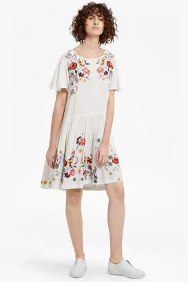 French Connection Alice Drape Embroidered Dress