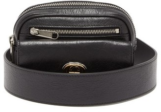 Gucci Morpheus Cracked-leather Belt Bag - Mens - Black