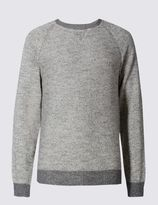 Marks and Spencer Cotton Rich Sweat Slub Crew Neck Jumper