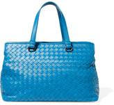 Bottega Veneta Medium Intrecciato Leather Tote - Blue