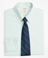 Brooks Brothers Original Polo Button-Down Oxford Soho Extra-Slim Fit Dress Shirt, Stripe