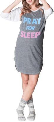 Bun Maternity Pray for Sleep Maternity/Nursing Nightgown