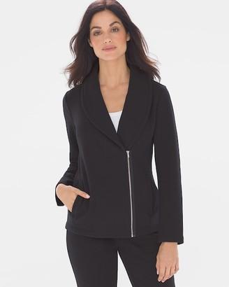 Soma Intimates Fine Fleece Moto Jacket Black