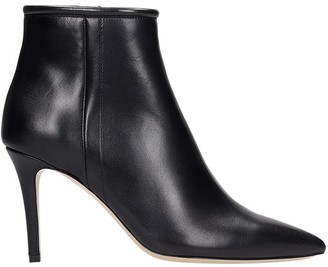 Fabio Rusconi High Heels Ankle Boots In Black Leather