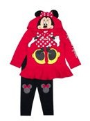 Minnie Mouse Girls Costume Hoodie and Legging, 2-Piece outfit Set, Sizes 4-6X