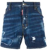 DSQUARED2 Dan Commando lightly distressed shorts